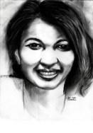 """20 Faces - 19"" Charcoal on paper ©Alf Sukatmo 2016"