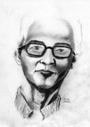 """20 Faces - 5"" Pencil on paper ©Alf Sukatmo 2016"