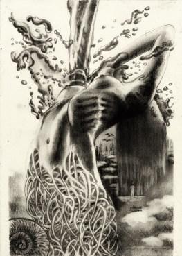 """Histórica - Paranoia 2"" Pencil, charcoal on paper ©Alf Sukatmo. 2016"