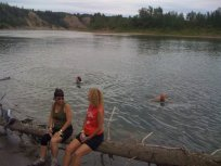 Cooling off a bit in the river