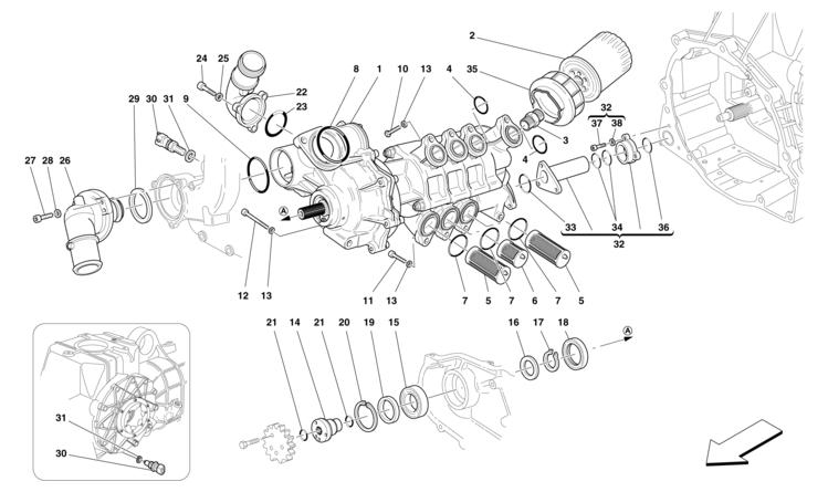 Engine Oil Filter Ferrari F430 California P/N 234742 New