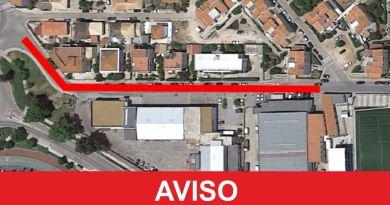 Trânsito ficará interrompido na rua cruz da palmeira em Silves até 29 de janeiro