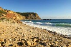 Cabanas beach near Burgau, looking east.