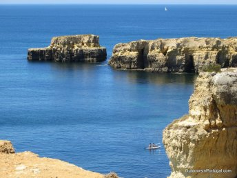 Albufeira's stunning rock formations.