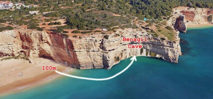 benagil cave access