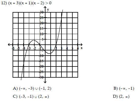 Math 1111 practice tests #2 :: Algebra Helper