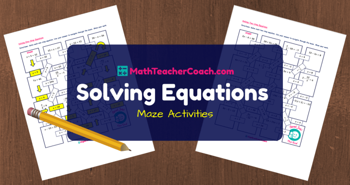 Free Maze Solving Equations Activities Algebra 1 Coach
