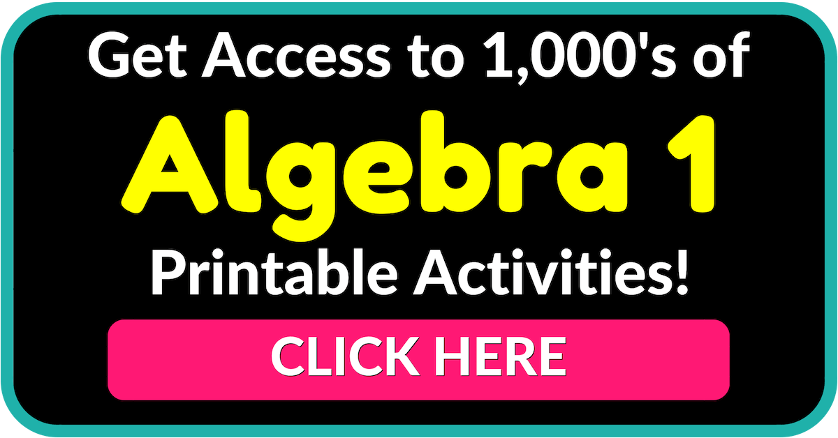 Join the Algebra 1 Teacher Coach Community! Algebra 1 Lesson Plans Algebra 1 Worksheets Algebra 1 Curriculum