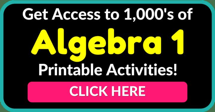 Join the Algebra 1 Teacher Coach Community! Algebra 1 Lesson Plans Algebra 1 Worksheets Algebra 1 Curriculum