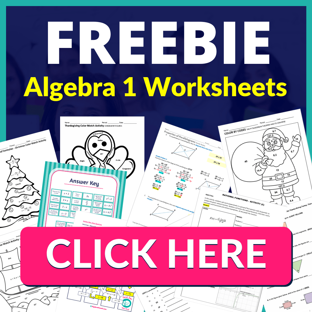1-8 Introduction to Equations ⋆ Algebra 1 Coach [ 1080 x 1080 Pixel ]