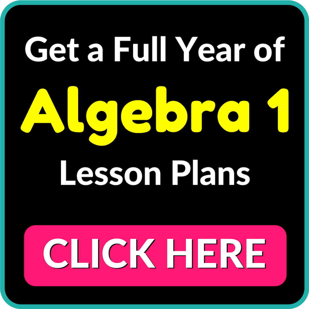 Algebra 1 Curriculum Materials