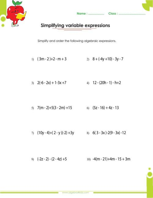 small resolution of Adding and subtracting polynomials worksheets with answers