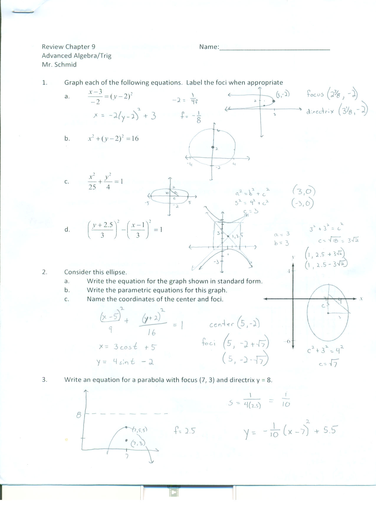 Arrowhead Union High School Advanced Algebra Trig