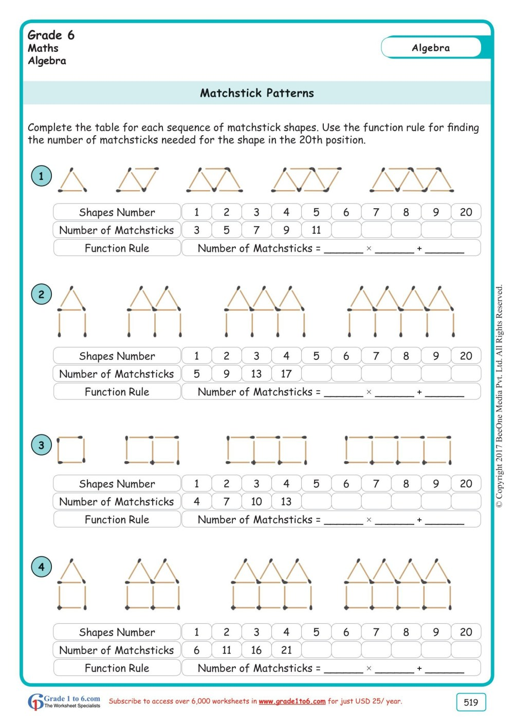 medium resolution of 6th Algebra Worksheets   Printable Worksheets and Activities for Teachers