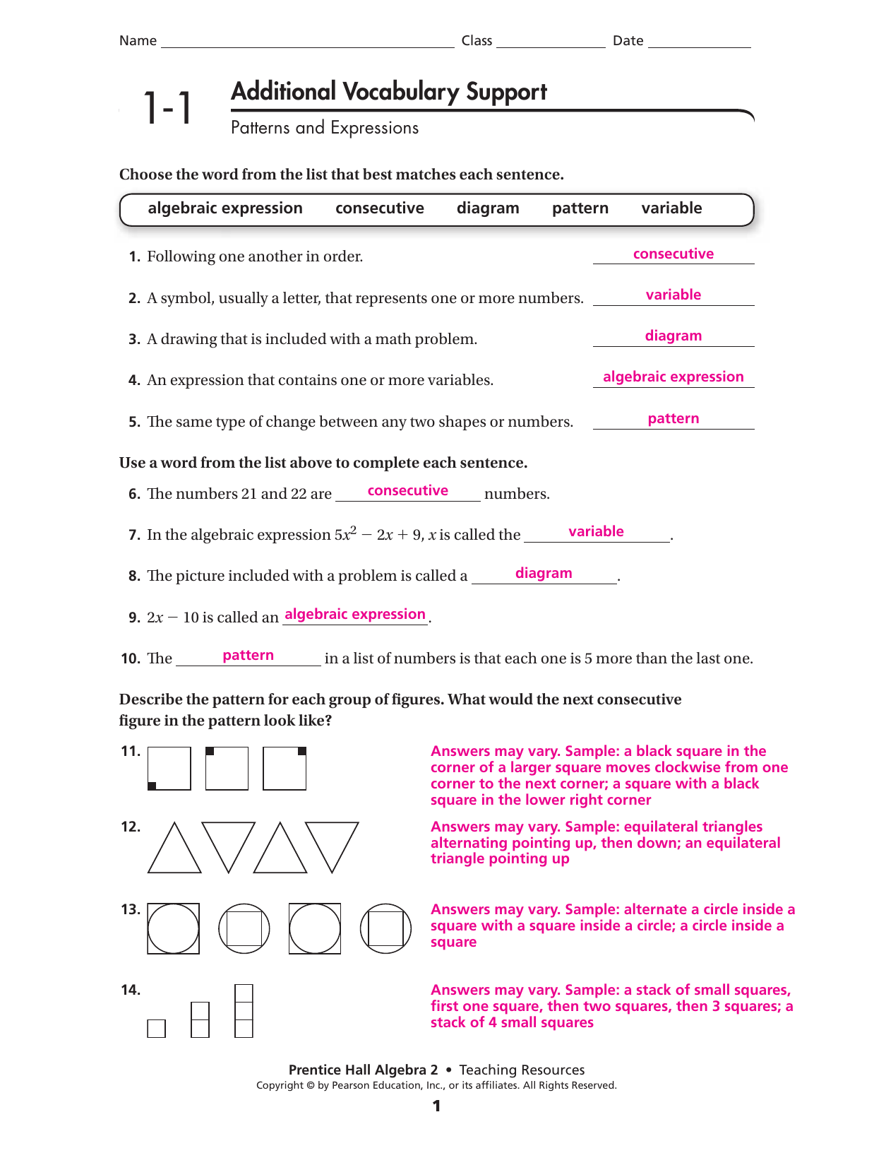 Glencoe Algebra 2 Chapter 5 Worksheet Answer Key