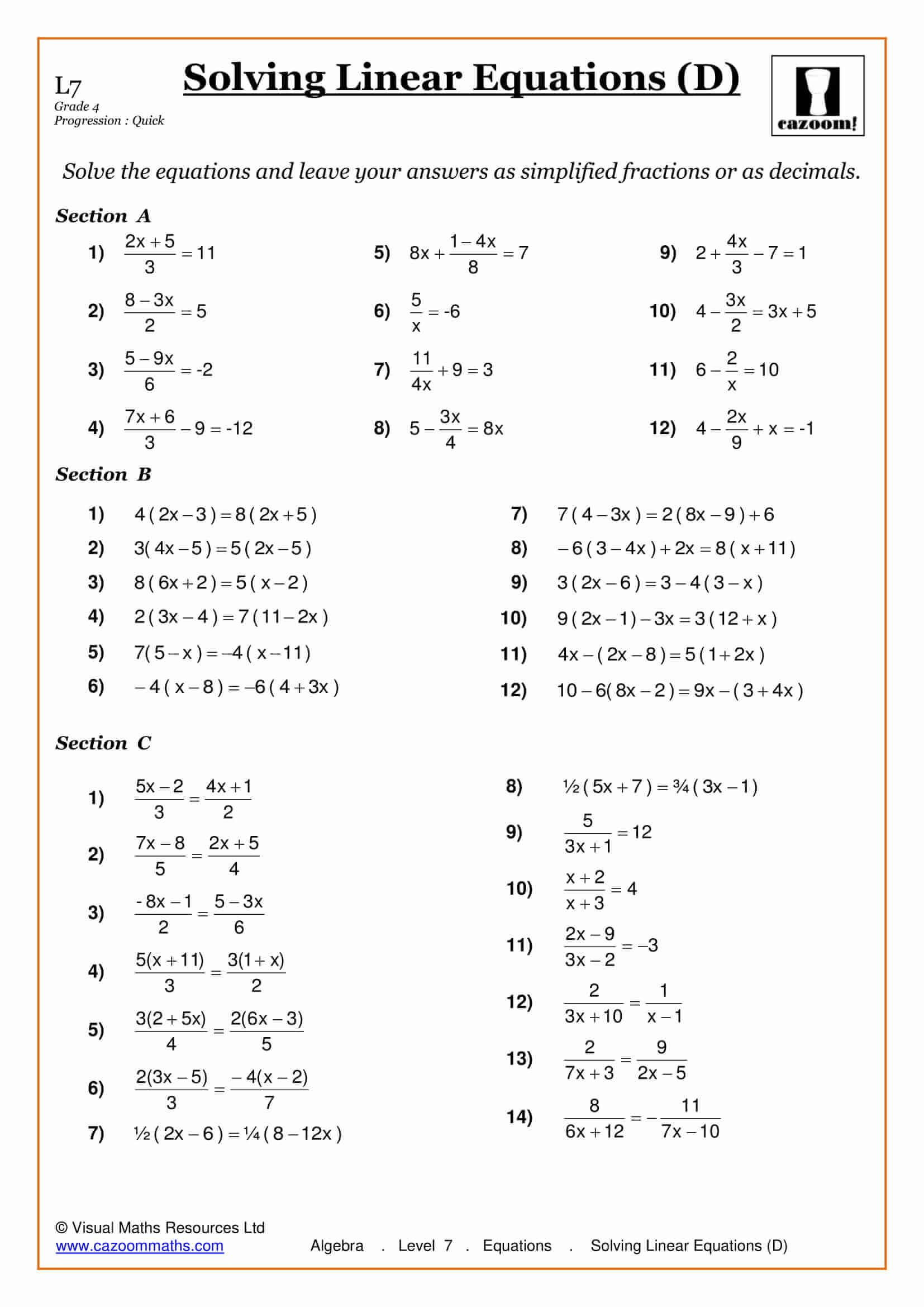 hight resolution of Pre Ap Math 7th Grade Worksheets   Printable Worksheets and Activities for  Teachers