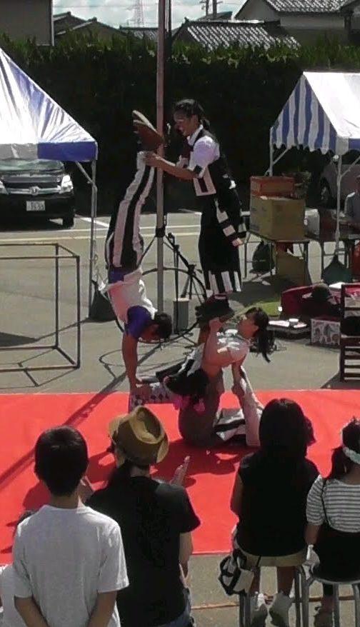 サーカスアクロバットの組体操