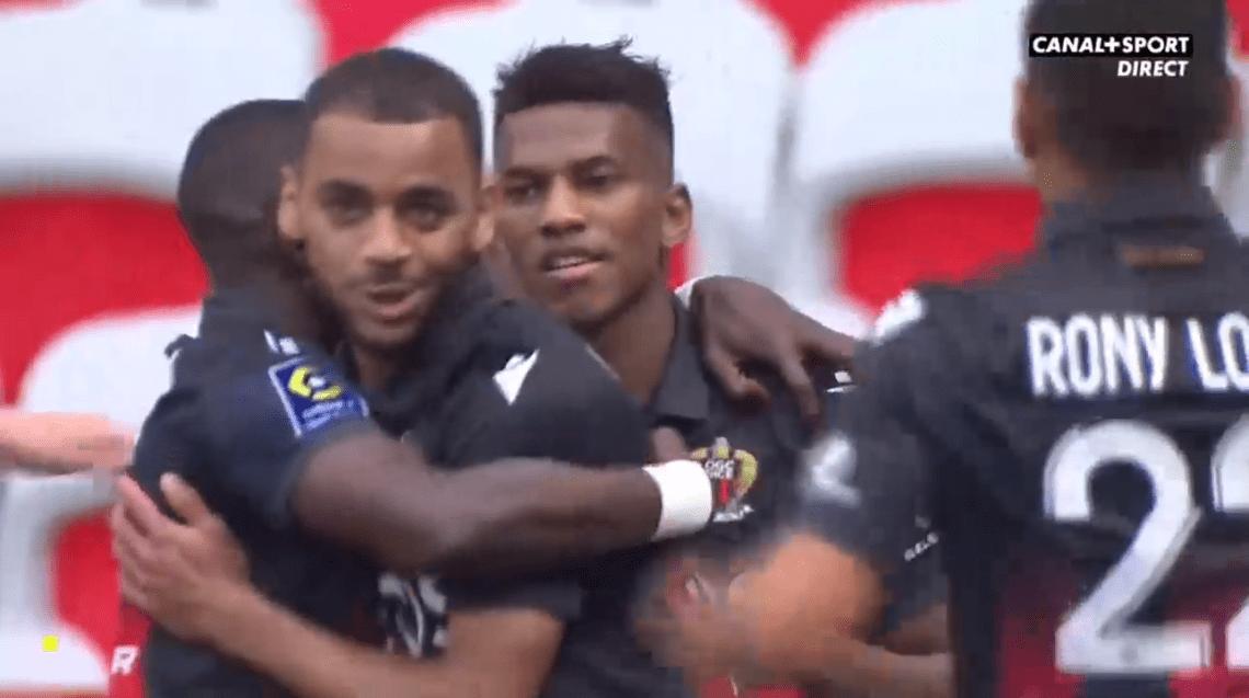 Le but de Delort face à Strasbourg et le but de Boudaoui face à Brest