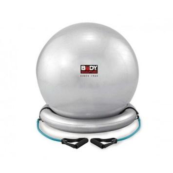 Balle de gym avec une base gonflable