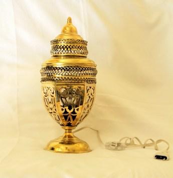 Grande lampe traditionnelle en cuivre