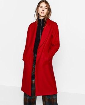 Manteau Zara Rouge