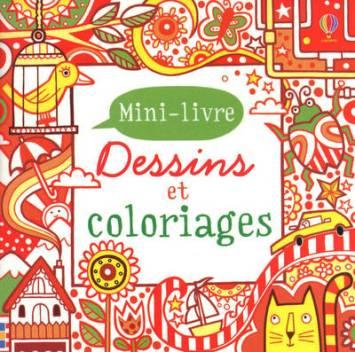 Dessins et coloriages bleu-Rouge mini-livre