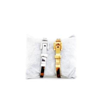 Bracelet en argent homme en deux couleur