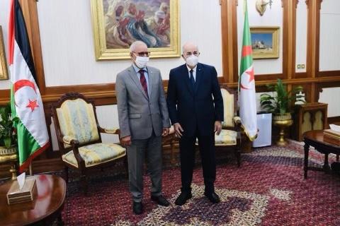 الجزائر- الرئيس غالي في زيارة للجزائر: المطالبة بتدخل منظمات حقوق الإنسان لحماية الصحراويين
