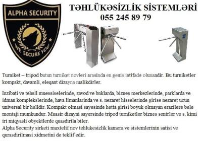 turniket 055 245 89 79 Alpha security systems