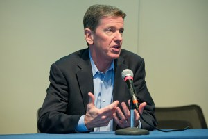 Michael Hyatt speaking at a platform building event North of Boston