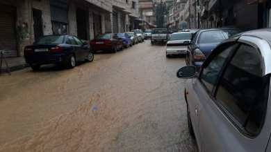 أمطار غزيرة تغمر الشوارع في عجلون