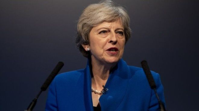رئيسة الوزراء البريطانية تيريزا ماي -(أرشيفية)