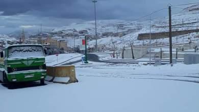 الثلوج تغطي مناطق في معان -(الغد)