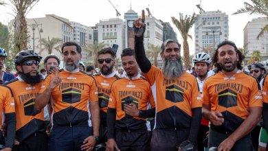 Photo of 8 بريطانيين يقطعون 6500 كيلومتر على درّاجاتهم لاداء مناسك الحج