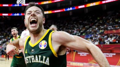 "Photo of استراليا تتغلب على كندا في ""مجموعة الموت"" بمونديال السلة 2019"