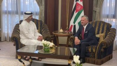 """Photo of الملك يبحث """"أزمات الشرق الأوسط"""" مع وزير الخارجية الإماراتي"""