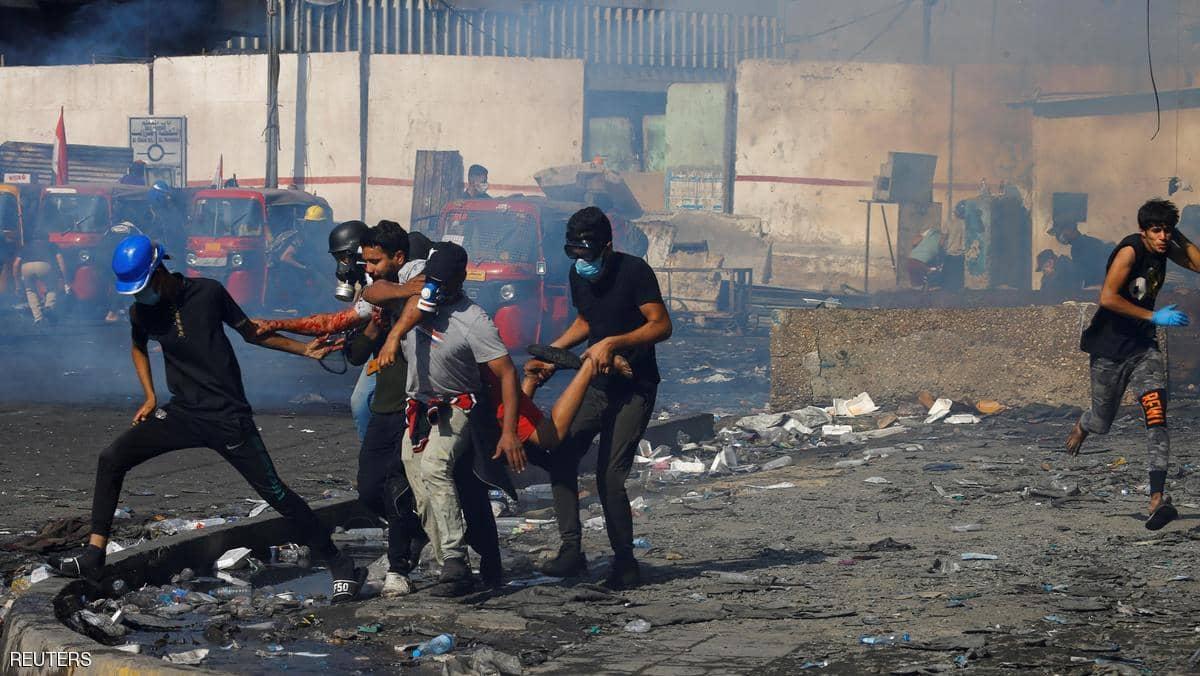 مصاب عراقي برصاص قوات الأمن