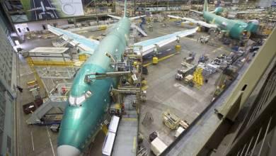 طائرة بوينغ 737 ماكس خلال تصنيعها