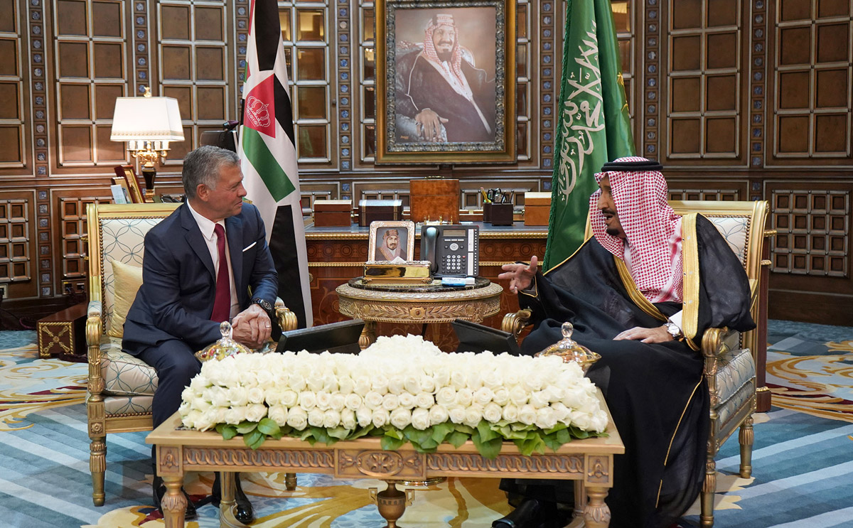 جلالة الملك عبد الله الثاني بن الحسين والملك السعودي