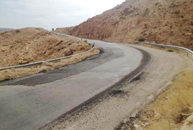 أحد المنعطفات الخطرة على طريق الطفيلة الكرك-(الغد)