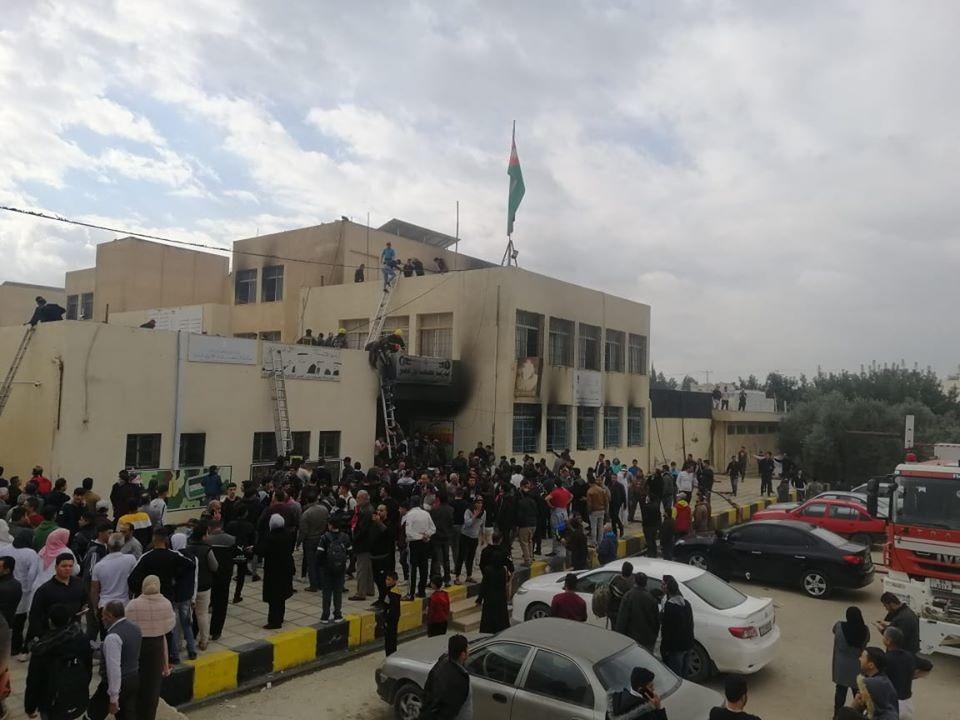 حريق في أحد المدارس في الرمثا قبل أيام