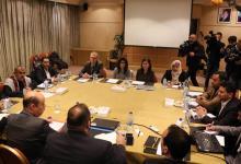 جانب من اجتماعات ممثلين عن الأطراف اليمينة في عمّان لبحث تطبيق اتفاق تبادل الأسرى -(ا ف ب)
