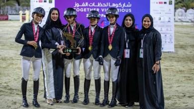 """Photo of فارسات الإمارات والأردن يتوشّحن بذهب قفز الحواجز في """"عربية السيدات"""""""