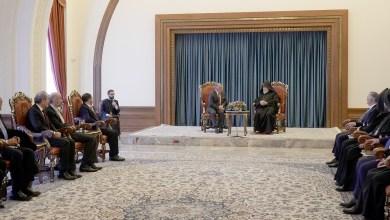 جلالة الملك حلال اجتماعه مع رئيس كنيسة الارمن