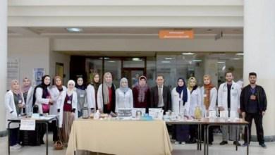 لقطة تذكارية للمشاركين في الحملة بمستشفى الملك المؤسس-(من المصدر)