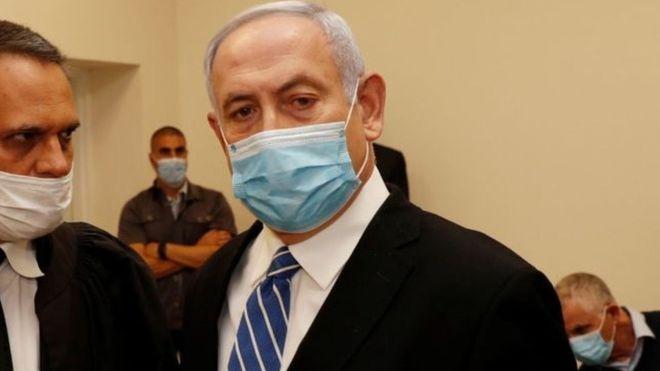 Photo of بنيامين نتنياهو رئيس الوزراء الإسرائيلي يمثل أمام محكمة في القدس لمواجهة تهم فساد