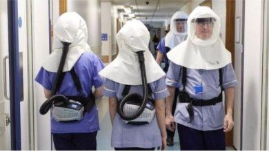 استخدام الأقنعة الواقية في مستشفى جامعة ساوثامبتون