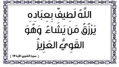"""Photo of """"الله لطيف بعباده"""""""