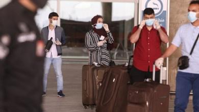 من استقبال أول رحلات للطلبة الأردنيين العائدين من الخارج في المطار الثلاثاء - تصوير: محمد مغايضة