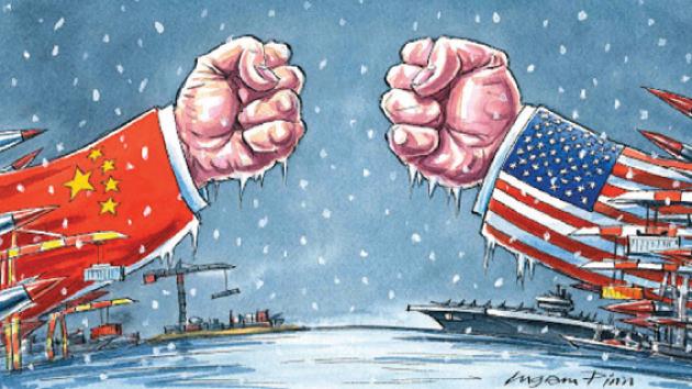 صورة تعبيرية عن الحرب الباردة بين الولايات المتحدة الأميركية والصين- الصورة من Financial Timeses